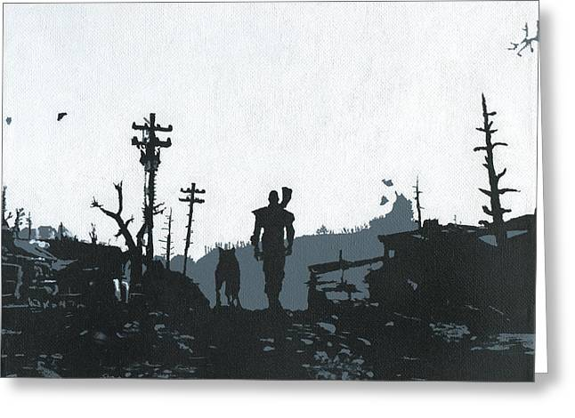 The Lone Wanderer From Vault 101 Greeting Card by Jezebel X
