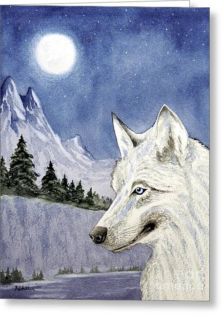 Hunting Cap Greeting Cards - The Lone Wolf Greeting Card by Bill Holkham