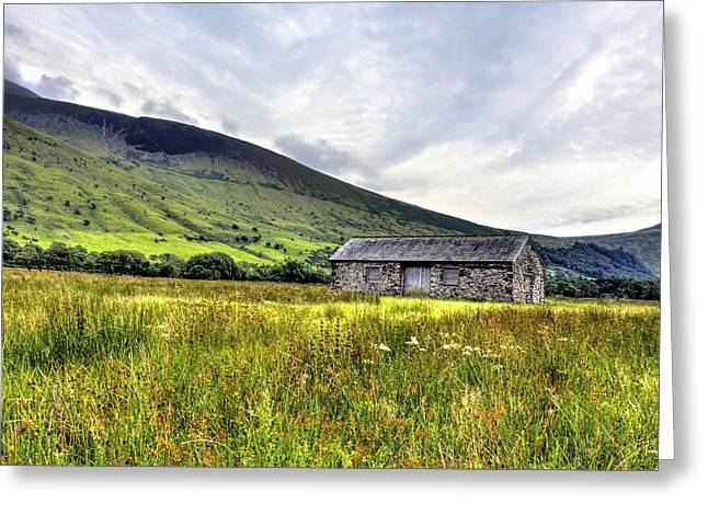 Whittle Greeting Cards - The Lonely Barn Greeting Card by Chris Whittle