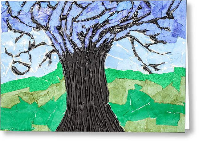 The Lonely Tree Greeting Card by Amanda Elwell