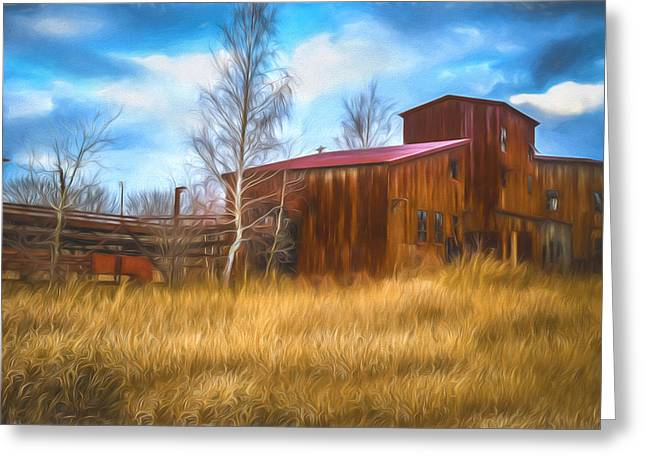 Tin Roof Greeting Cards - The Lonesome Place - Artistic Greeting Card by Chris Bordeleau