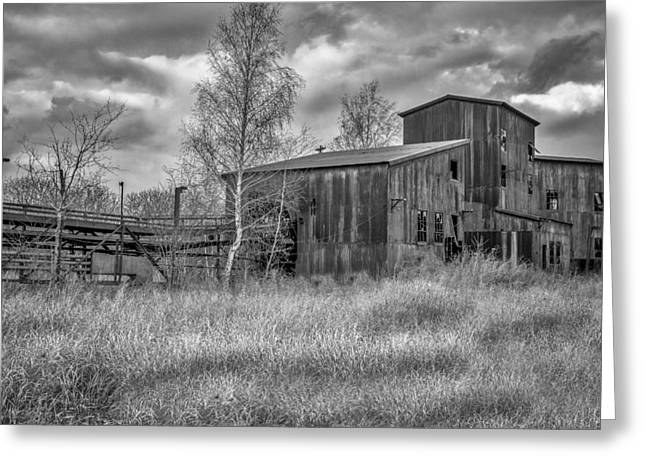 Tin Roof Greeting Cards - The Lonesome Place - BW Greeting Card by Chris Bordeleau
