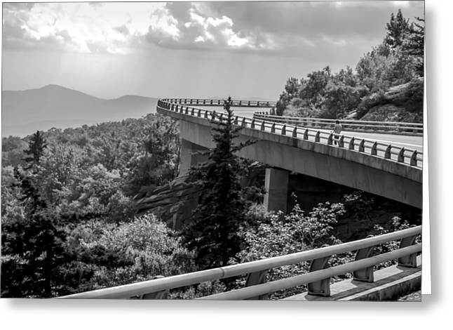Smokey Mountain Drive Greeting Cards - The LONG and WINDING ROAD Greeting Card by Karen Wiles