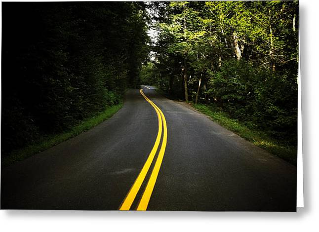 The Long and Winding Road Greeting Card by Natasha Marco