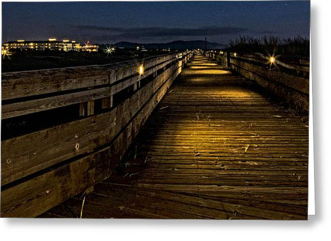Art For Sale Greeting Cards - The Long Beach Boardwalk Greeting Card by Thom Zehrfeld