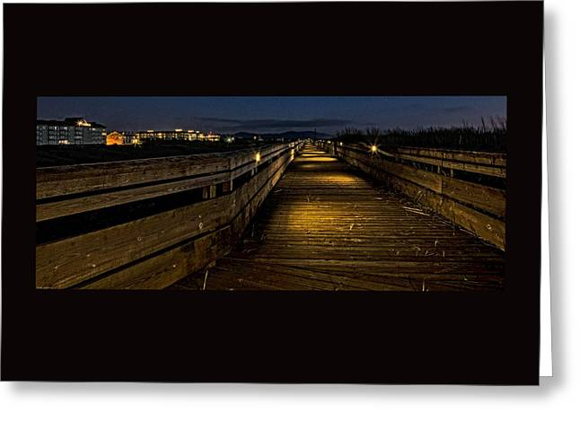 Recently Sold -  - Photo Art Gallery Greeting Cards - Long Beach Boardwalk Greeting Card by Thom Zehrfeld