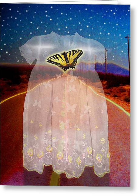 Cocoon Digital Greeting Cards - The Long Highway Greeting Card by Larry Butterworth