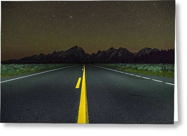 The Long Road Greeting Card by Kristopher Schoenleber