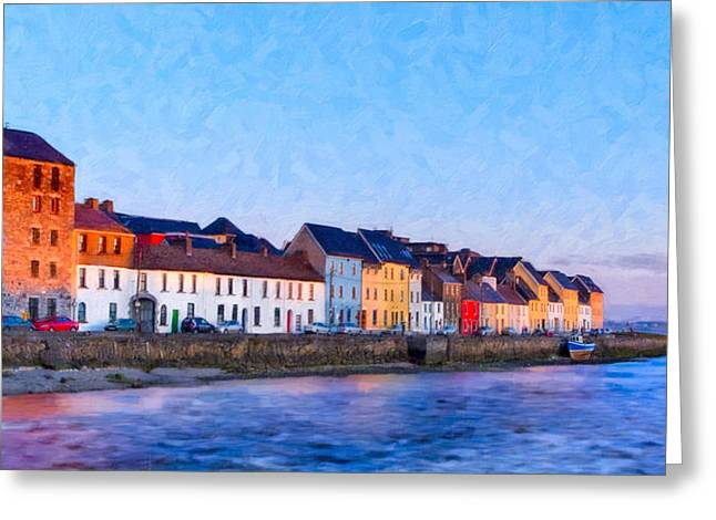 Galway Bay Greeting Cards - The Long Walk in Galway Ireland Greeting Card by Mark Tisdale