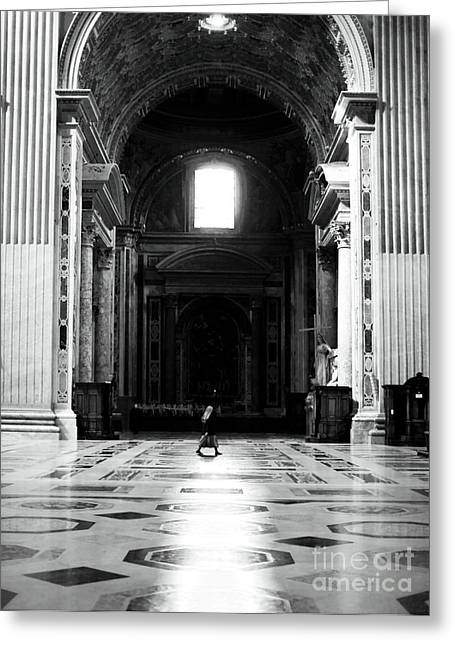 Peter Art Prints Posters Gallery Greeting Cards - The Long Walk Greeting Card by John Rizzuto