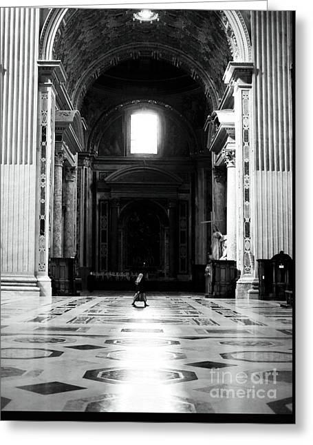 The Long Walk Greeting Card by John Rizzuto