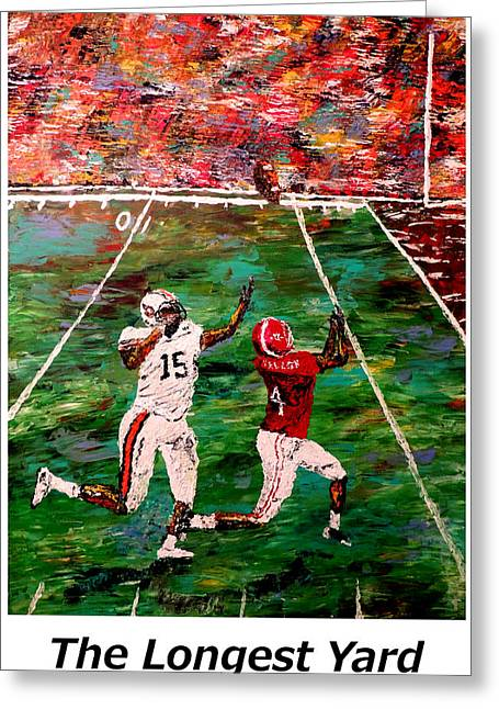 Pallet Knife Greeting Cards - The Longest Yard Named  Greeting Card by Mark Moore