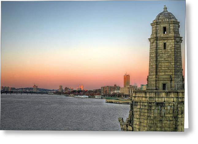 The Bean Greeting Cards - The Longfellow Bridge  Greeting Card by JC Findley