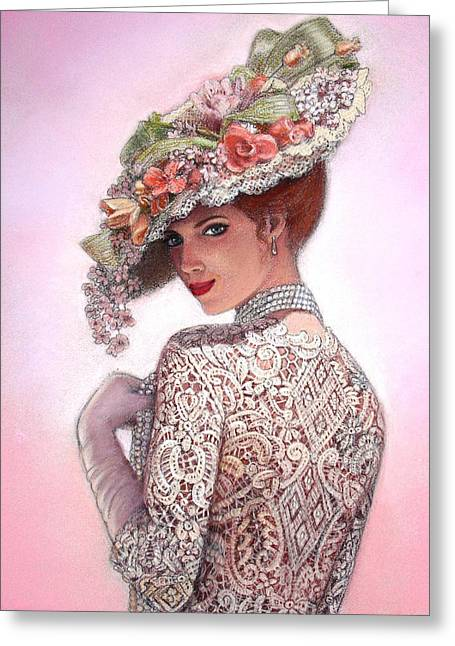 Pastel Greeting Card featuring the painting The Look Of Love by Sue Halstenberg