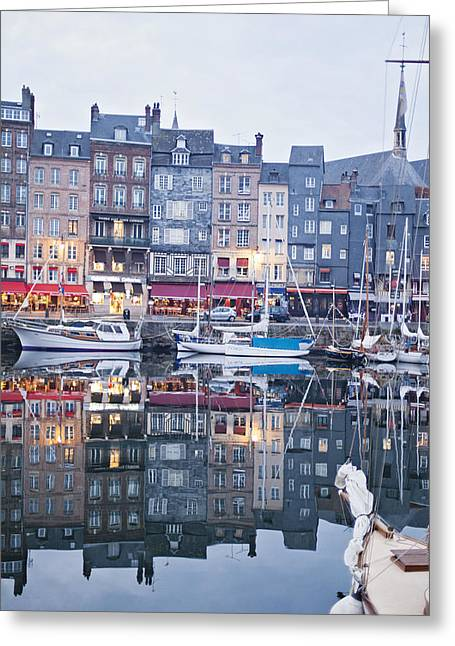 The Looking Glass - Honfleur France Greeting Card by Melanie Alexandra Price
