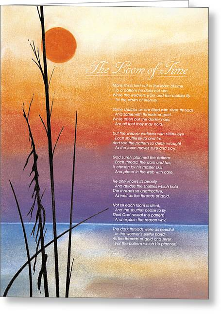 Poetry Pastels Greeting Cards - The Loom Of Time Greeting Card by John Hebb