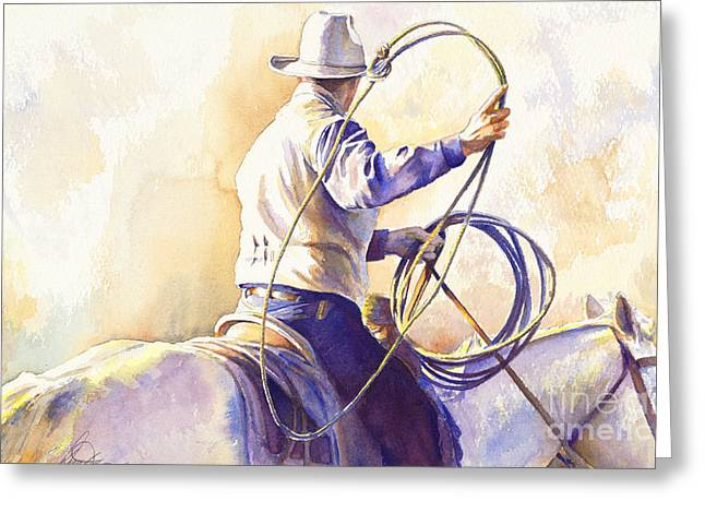 Riders Greeting Cards - The Loop Greeting Card by Don Dane