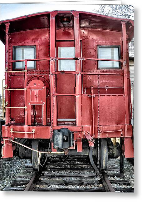 Caboose Digital Greeting Cards - The Loose Caboose Greeting Card by Bill Cannon