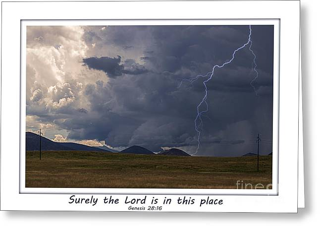 Distance Framed Prints Greeting Cards - The Lord Is In This Place Greeting Card by Janice Rae Pariza