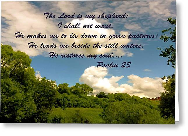 Shepherds Greeting Cards - The Lord is My Shepard Greeting Card by  Bob and Nadine Johnston