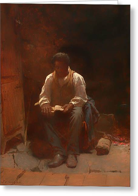 Negroes Paintings Greeting Cards - The Lord is My Shepherd Greeting Card by Eastman Johnson
