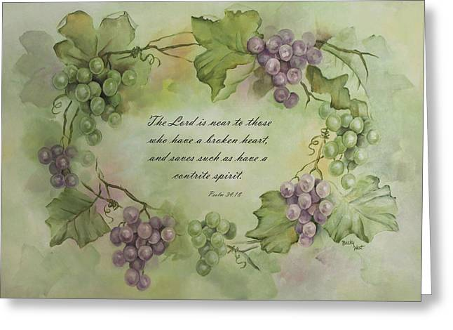 Becky Greeting Cards - The Lord is near Greeting Card by Becky West