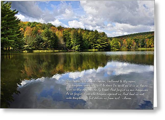 The Lord's Prayer Greeting Card by Christina Rollo