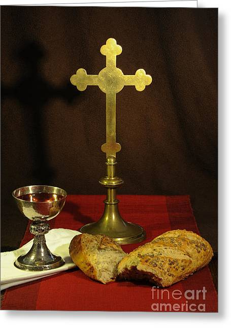 Chalice Greeting Cards - The Lords Supper Greeting Card by Donald Davis