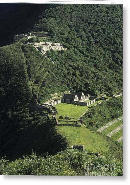 The Lost City Of Choquequirao Greeting Card by James Brunker