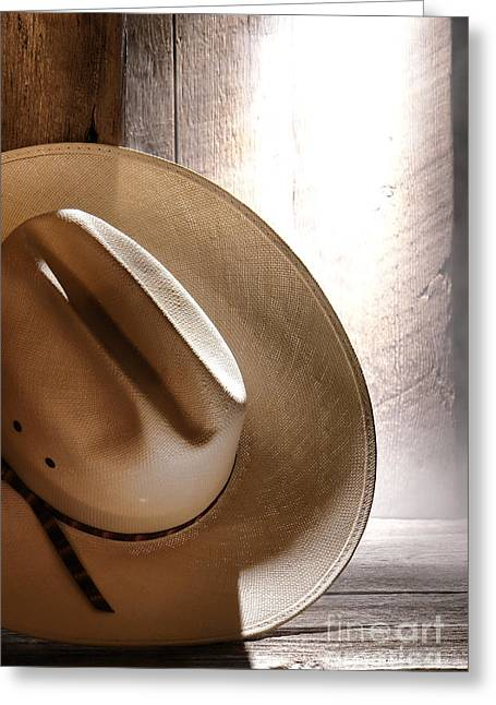 Ranch Greeting Cards - The Lost Hat Greeting Card by Olivier Le Queinec