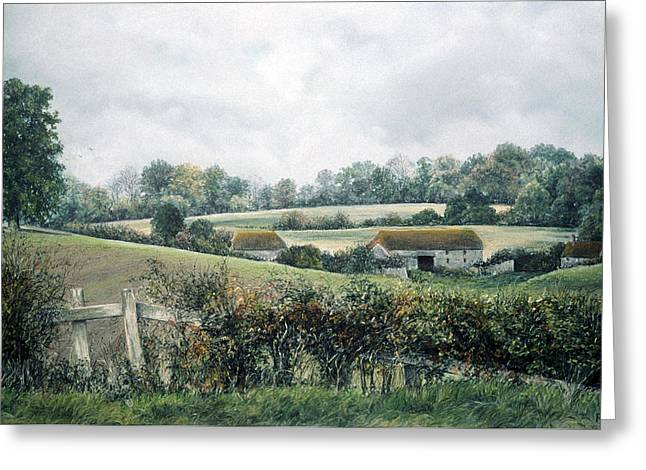 Green Foliage Pastels Greeting Cards - The Lost Hedgerow Greeting Card by Rosemary Colyer