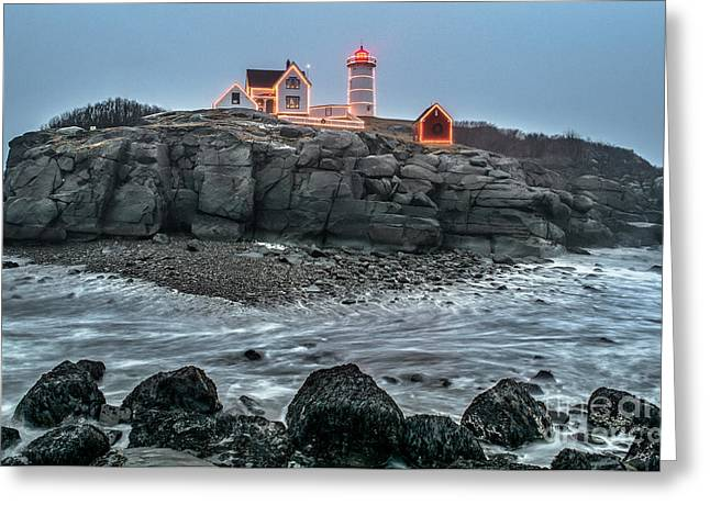 Cape Neddick Lighthouse Greeting Cards - The Lost Land bridge Greeting Card by Scott Thorp