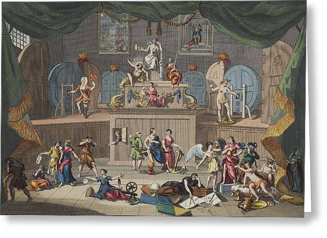 Lottery Greeting Cards - The Lottery, Illustration From Hogarth Greeting Card by William Hogarth