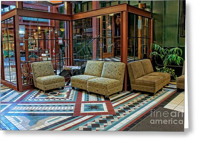 Spokane Greeting Cards - The Lounge Greeting Card by Tom Gilbrough