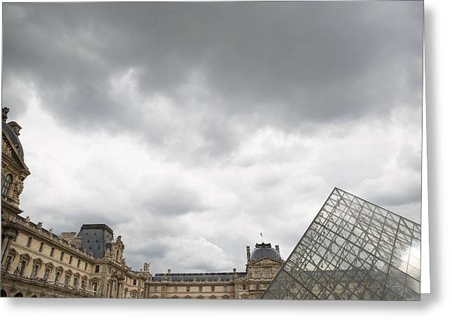 Louvre Greeting Cards - The Louvre 2 Greeting Card by Rebecca Cozart