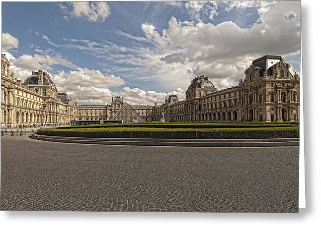 Mauro Greeting Cards - The Louvre Greeting Card by Mauro Celotti
