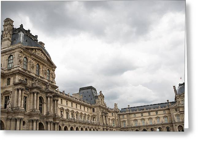 Louvre Greeting Cards - The Louvre Greeting Card by Rebecca Cozart