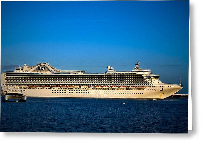 San Diego Harbor Cruise Greeting Cards - The Love Boat Greeting Card by See My  Photos