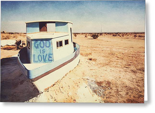 Salvation Mountain Greeting Cards - The love boat Greeting Card by Nastasia Cook