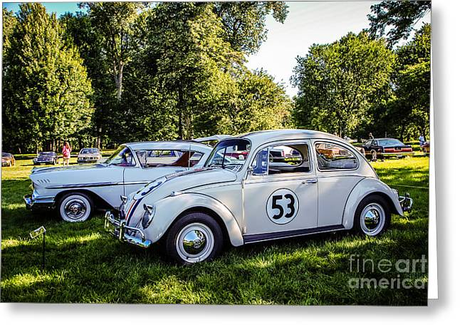 The Love Bug Greeting Cards - The Love Bug Greeting Card by Grace Grogan