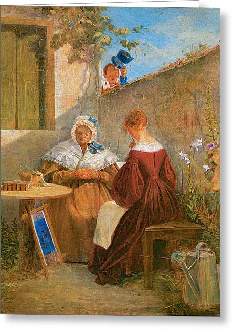 Love Letter Greeting Cards - The Love Letter Greeting Card by Carl Spitzweg