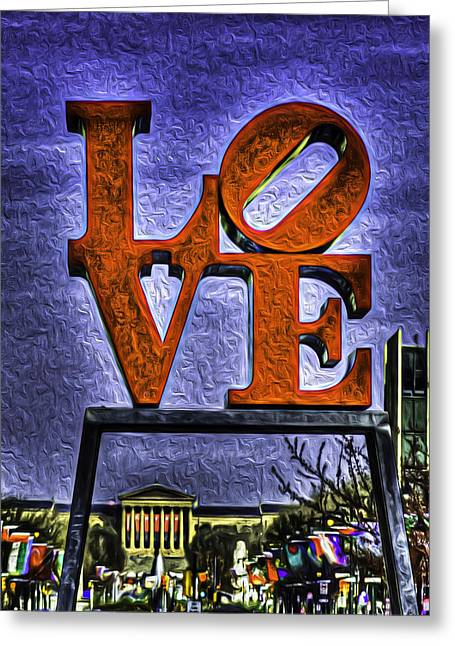 Downtown Franklin Greeting Cards - The Love Museum Greeting Card by Michael Vincent