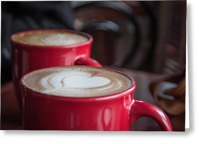 The Love Of Coffee Greeting Card by Chris Fletcher