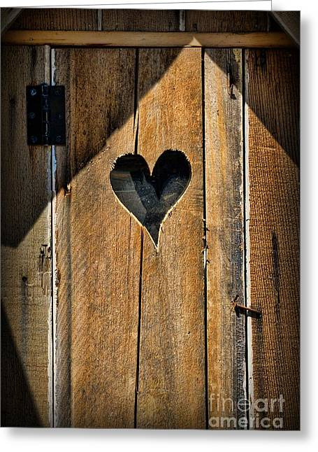 Latrine Greeting Cards - The Love Shack - Outhouse Greeting Card by Paul Ward