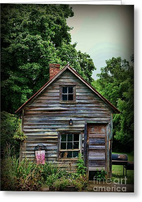 Small House Greeting Cards - The Love Shack Greeting Card by Paul Ward
