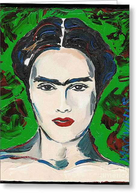 Unibrow Greeting Cards - The Lovely Frida Kahlo Greeting Card by Mary C Wells