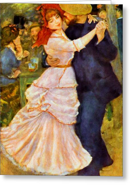 Girl Greeting Cards - The Lovers Waltz  Greeting Card by Georgiana Romanovna