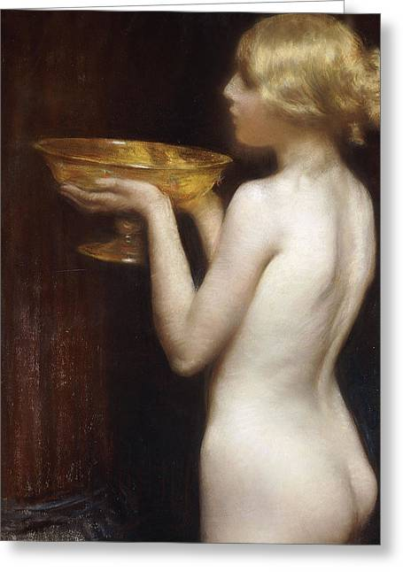 Origin Greeting Cards - The Loving cup Greeting Card by Janet Agnes Cumbrae-Stewart