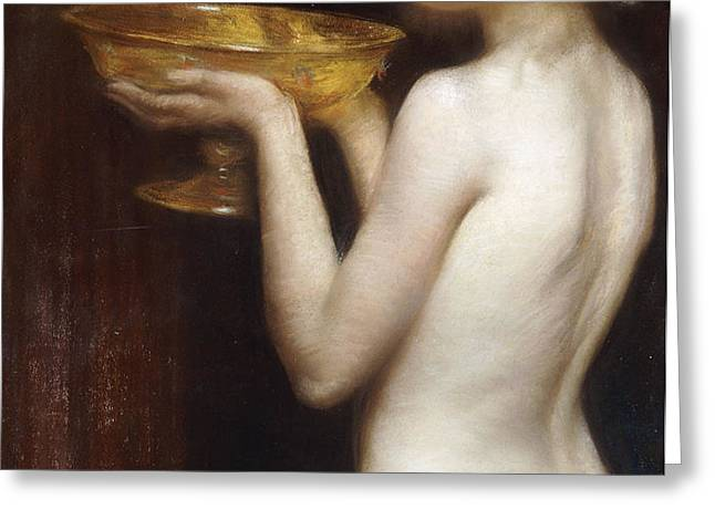 The Loving cup Greeting Card by Janet Agnes Cumbrae-Stewart