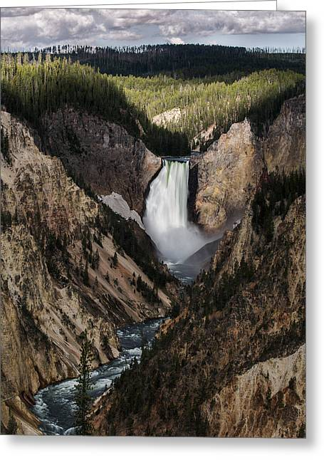Art In Acrylic Greeting Cards - The Lower Fall Greeting Card by Jon Glaser